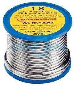 Rothenberger 45250 Rocchetto di stagno sn 95% argento 5% 3 mm. 250 gr.